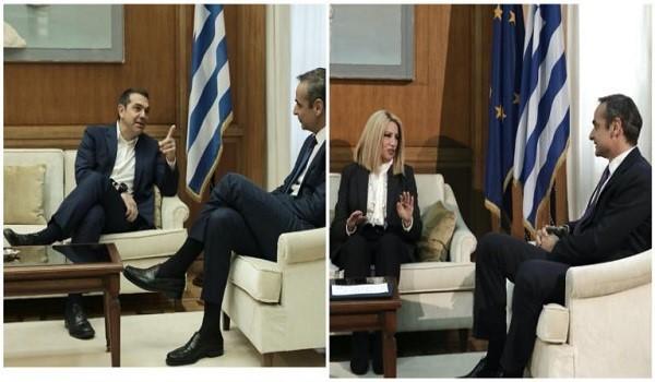 Ο Μητσοτάκης ενημερώνει τους αρχηγούς: Τριπλό όχι Τσίπρα - Γεννηματά: Είχα προτείνει εθνική γραμμή